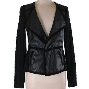 😍 Anthropologie Elevenses Faux Leather Jacket, XS